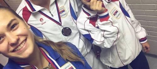 Tri medalje u Kranju!